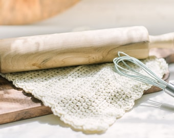 Scallop Washcloth | Handmade Crochet Washcloth | Soft Washcloth Set | Farmhouse Neutral Washcloth Set | Handmade Farmhouse Washcloth