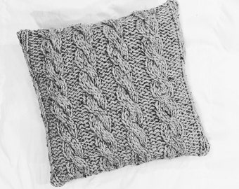 Cable Knit Pillow Hand Knit Pillow Cover Knit Throw Pillow Cozy Warm Home Decor