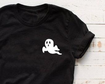 6666acbee Halloween Shirt, Women's Shirt, Ghost T-shirt, Halloween Gift