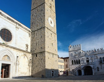 Cathedral of assumption, Koper, wallart Giclee print, wall art prints, art prints, print art, architecture, architecture gifts, pixsellpix
