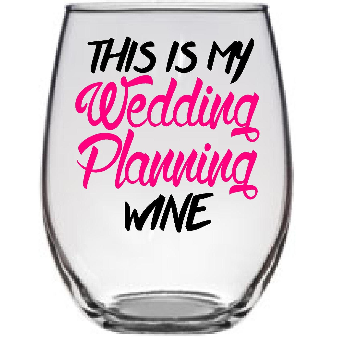 This is my wedding planning wine Bride Large Wine Glass Best | Etsy