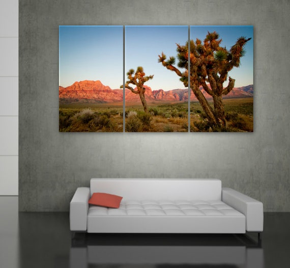 Joshua Tree National Park Art On Canvas Large Wall Art Etsy
