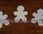 Plastic Canvas Gingerbread Man Cut Outs Plastic Canvas for Needlepoint