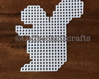 Plastic Canvas Squirrel Cut Outs Plastic Canvas Squirrel for Needlepoint