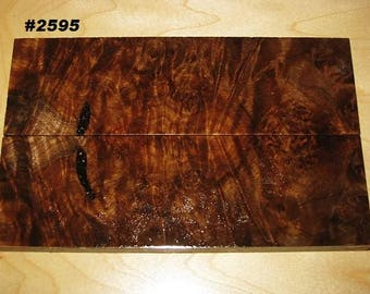 Premium Acrylic Stabilized Natural Color Spalt Maple Burl Bookmatched Lumber, Custom Knife Scales Jewelry Making Inlays, Tool Handles #2595