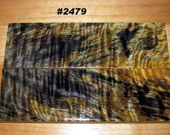Premium Acrylic Stabilized Double-Dyed Quilted Maple Bookmatched Lumber, Custom Knife Scales, Jewelry Making, Inlays,Tool Handles #2479