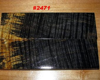 Premium Acrylic Stabilized Double-Dyed Figured Curl Maple Bookmatched Lumber, Custom Knife Scales, Jewelry Making, Inlays,Tool Handles #2471