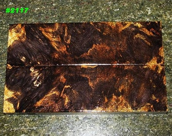 Premium Acrylic Stabilized Double-Dyed Figured Flame Maple Bookmatched Lumber, Custom Knife Scales Jewelry Making Inlays, Tool Handles #2117