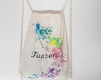cotton customizable acid works Gym bags Colorful /& loud