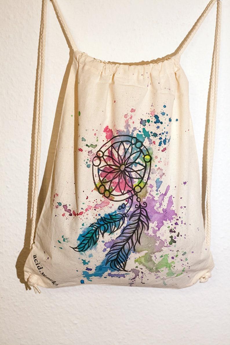 Gym bags Dreamcatcher acid works cotton customizable