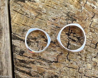His and Hers Matching Tri-Angled Rings