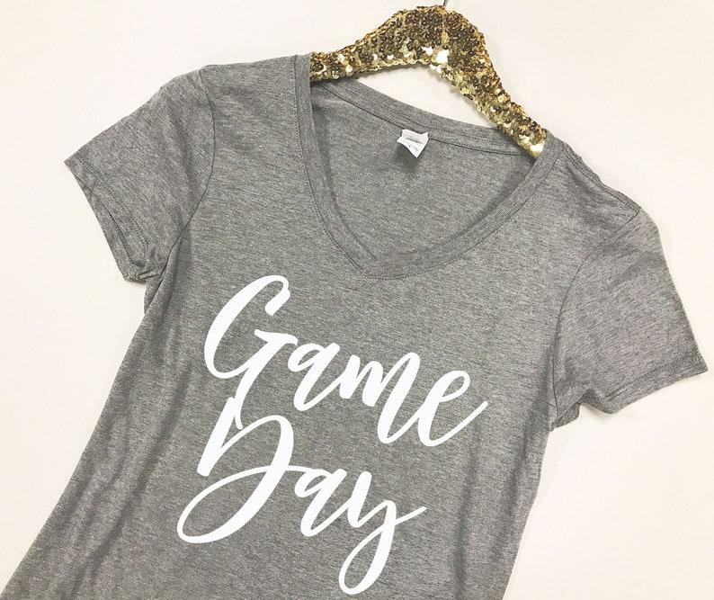 Game Day Shirt Game Day V-Neck Game Day Shirt Women  86cfa6549
