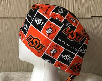 cf57ca97ab5 Oklahoma State University Scrub Cap - Scrub Hat - Scrub Hats - Surgery Cap  Hat - Surgical Cap Hat - OR Cap Hat