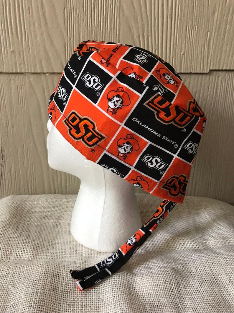online store 9489f 630f2 Oklahoma State University Scrub Cap Scrub Hat Scrub Hats   Etsy