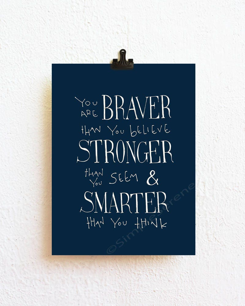 Winnie The Pooh Quote Art: Select Color Winnie The Pooh Quote Art Print You Are