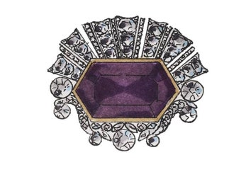 The Brooches of Queen Elizabeth II - Series Two - Six Blank Note Cards - Two of Each Design