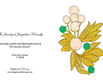 The Jewelry of Jacqueline Kennedy Onassis Blank Note Cards - Set of Six - Three of Each Design