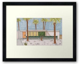 Palm Springs Mid-Century Modern House - Orange Door
