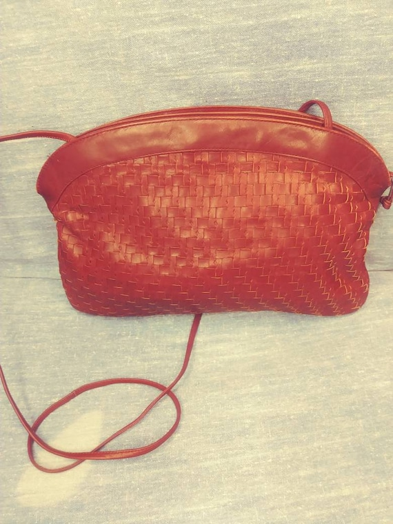 Brick Red Basket Weave Etienne Aigner
