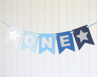 Boy birthday party blue ombre Etsy
