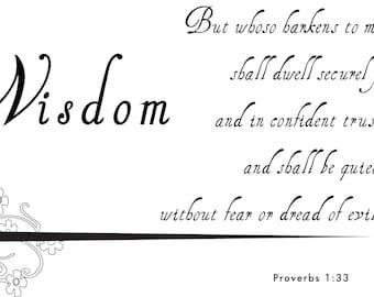 Wisdom Proverb 1.33 Instant Download Wall Art