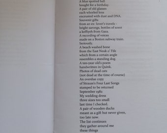 Poetry book  - Some things I ought to throw away - Scottish poetry chapbook, pamphlet