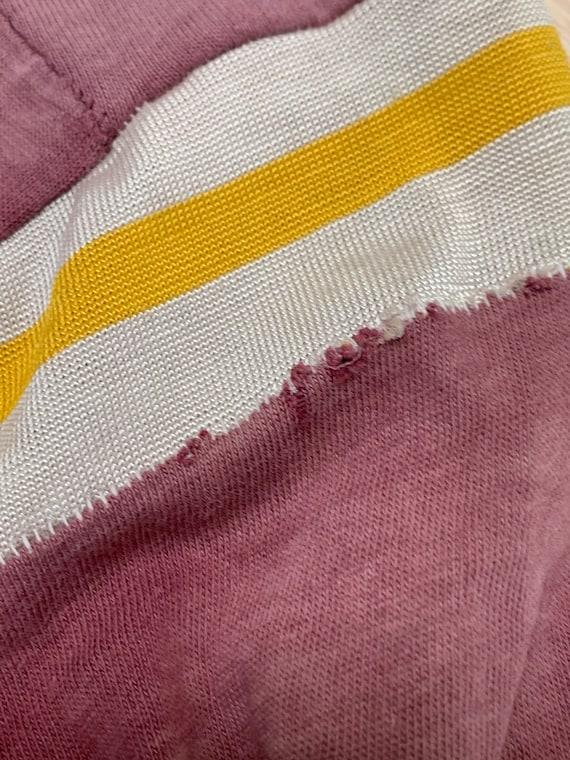 Vintage 70s Number 72 Cotton Football Jersey, Vin… - image 6