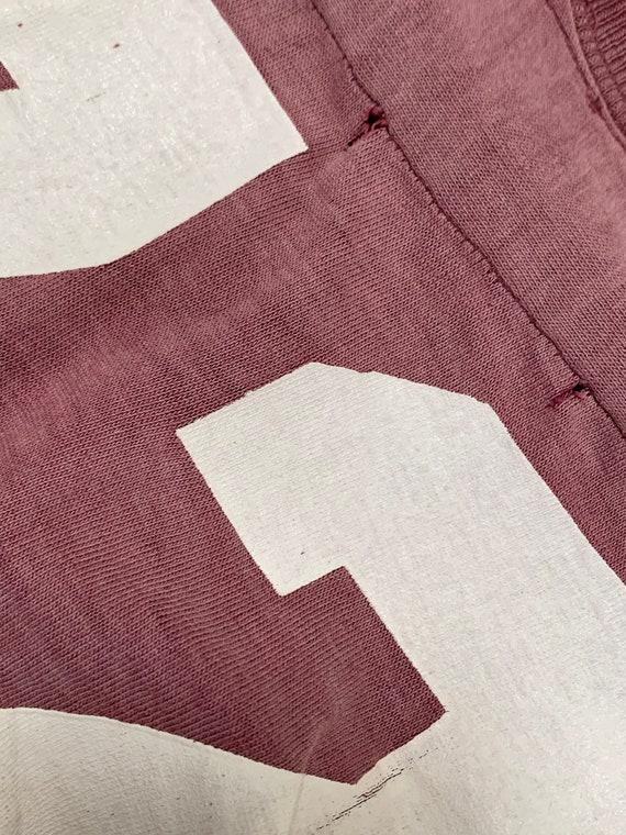 Vintage 70s Number 72 Cotton Football Jersey, Vin… - image 7