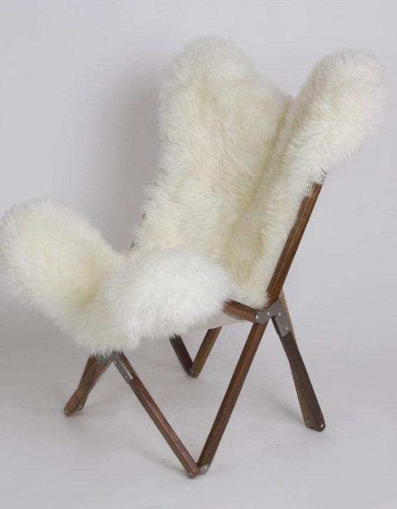 Awe Inspiring Tripolina Chair Wood And Sheep Skin Evergreenethics Interior Chair Design Evergreenethicsorg