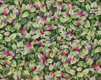 BTY A GARDEN in Bloom Floral Print 100% Cotton Quilt Craft RJR Fabric by the Yard