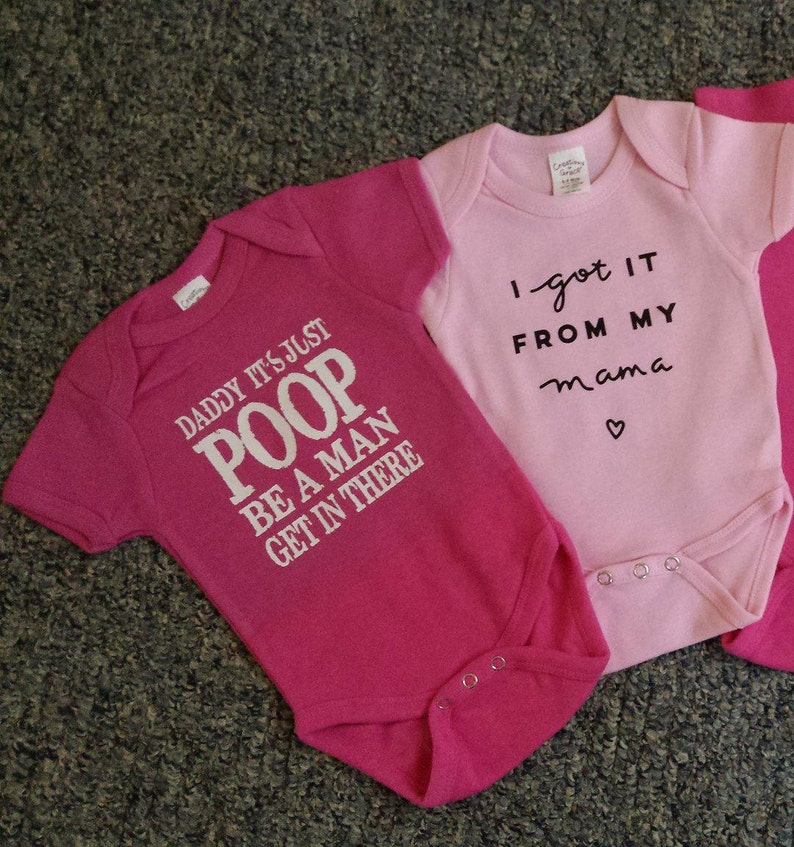 b2e8268a Daddy It's Just POOP Be A Man Get in There tshirt or baby | Etsy