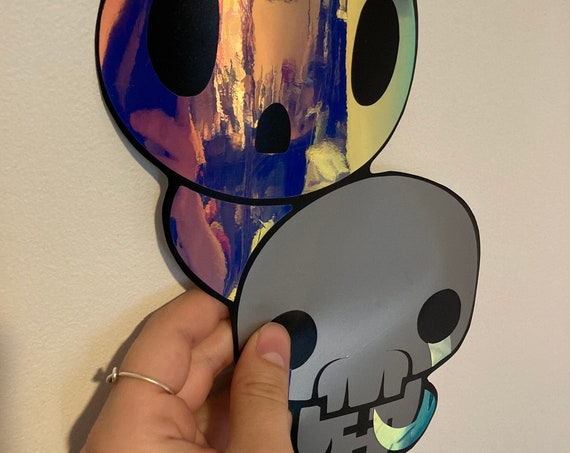 The Forgotten and Lost Binding of Isaac character holographic vinyl decal and sticker