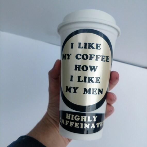 Starbucks Caffeine Joke Coffee Travel Mug