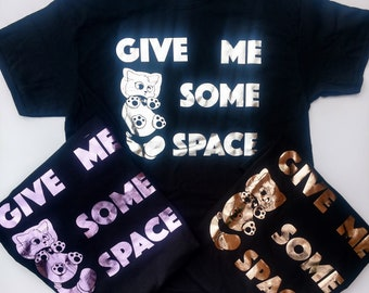 """Astronaut Cat """"Give me some space"""" short sleeved shirt"""