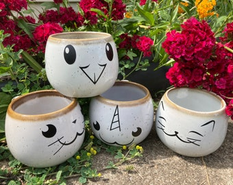 Cute Animal Mish Mosh set; cat, bird, seal, and narwhal