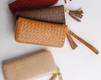 Mesh Pattern wallet clutch bag Synthetic Leather Wallet Women Wallet Ladies Purse Leather Items Vintage Wallet