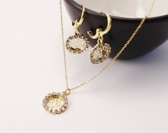 14K Gold Filled jewellery set, Simple gold jewelry set