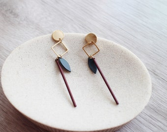 Handmade Earring, Artistic earrings, Special design earring, Silver stud, No allergy earrings