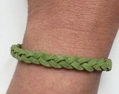 Suede Bracelet 218 - friendship braid suede bracelet green gift adjustable current womenswear unique innovative