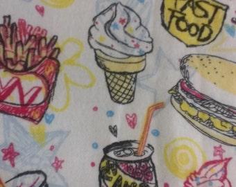 Custom Fast Food Felt Skirt