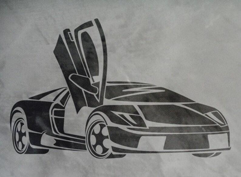 Stencil Wandschablone Lamborghini Etsy