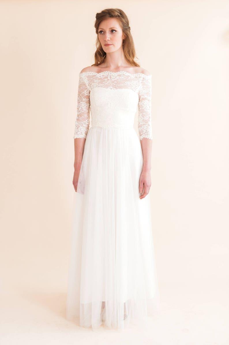 Starling Dress Wedding Dress Ivory Wedding Dress Simple Etsy