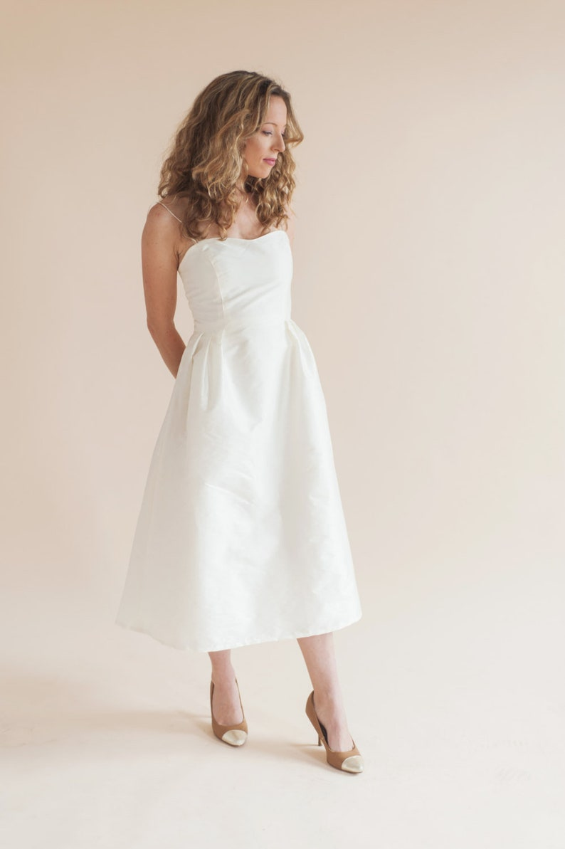 Violett Kleid Midi Brautkleid Kurzes Hochzeitskleid Etsy