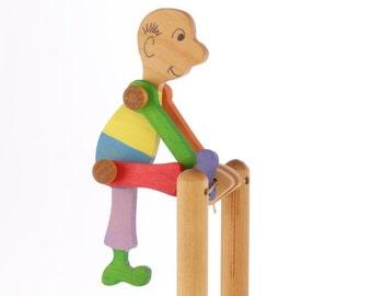 Wooden Acrobat Toy - Folk Toy - Flip Toy