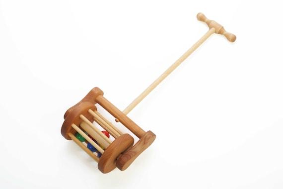 Wooden Lawnmower Push Toy Toddler Gift
