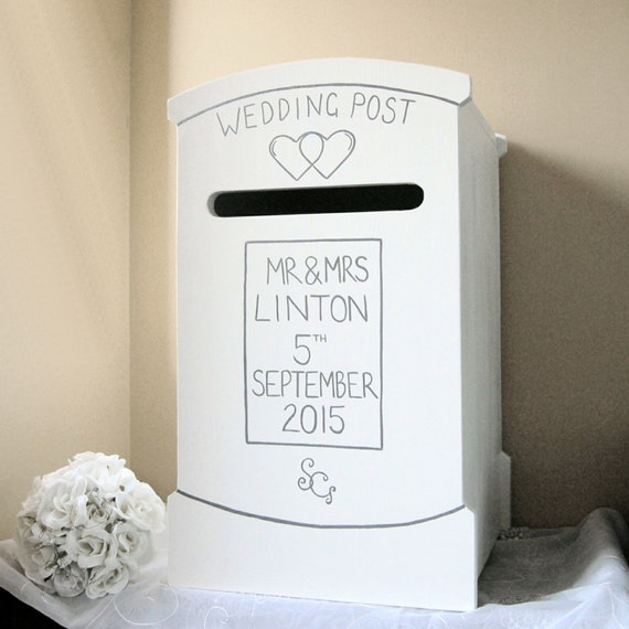 Personalised Wedding Post Box Hand Made Wedding Card Box Etsy