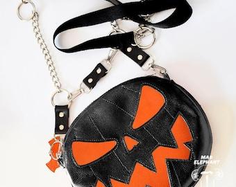 Coin purse Fashion Halloween gift Mini Shoulder Bag Gold Pumpkin  Star Skull