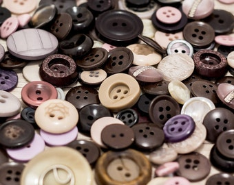 Brown buttons Sewing buttons Vintage buttons Plastic buttons Sewing supplies Craft buttons Craft supplies