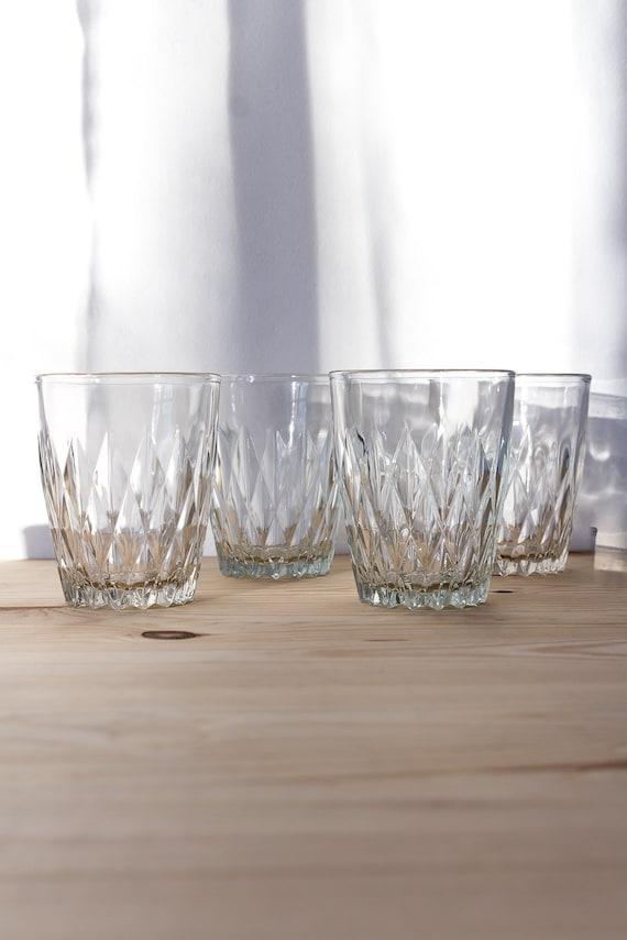 Vintage Water Glasses Tumbler Glasses Russian Tea Glass Soviet Etsy