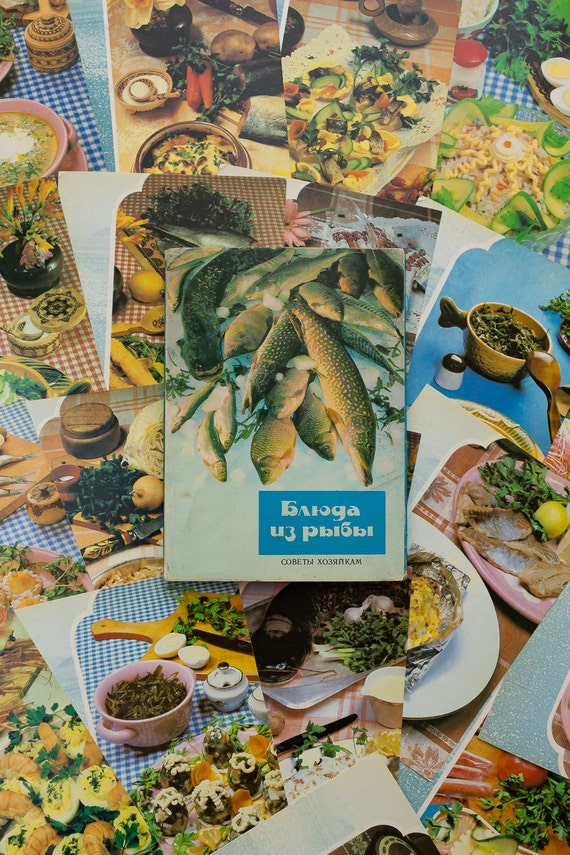 Recipe cards fish recipes food photography vintage cook book forumfinder Gallery